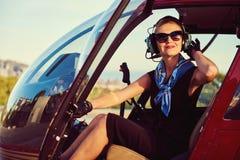 Pilote attirant de femme Photo libre de droits