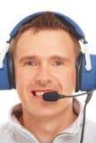 Pilote avec l'écouteur Photographie stock libre de droits