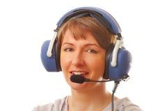 Pilote avec l'écouteur Image stock