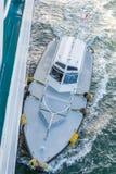 Pilote Boat Alongside Ship Photographie stock