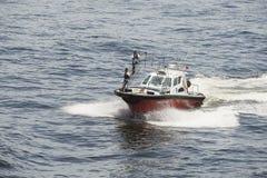 Pilote Boat Near Rio de Janeiro de la garde côtière photographie stock libre de droits