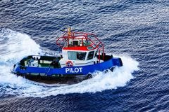 Pilote Into Curacao images stock