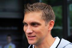 Pilote d'équipe Vitaly Petrov de Renault F1 Images stock