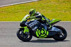 Pilote d'Andrea Iannone de Moto2 dans le MotoGP Photos stock