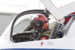 Pilote d'avion à réaction Photo stock
