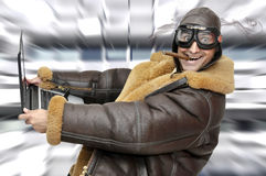 Pilote d'avion de chasse Photos stock