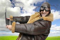 Pilote d'avion de chasse Images libres de droits