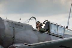 Pilote d'avion de chasse Photographie stock