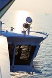 Pilote de bateau de croisière Photos libres de droits