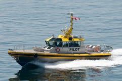 pilote de Canadien de bateau Photo stock