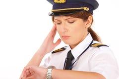 Pilote de compagnie aérienne Image stock