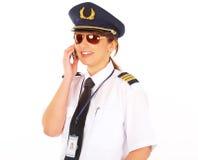 Pilote de compagnie aérienne images stock