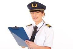 Pilote de compagnie aérienne image libre de droits