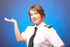 Pilote de compagnie aérienne photographie stock libre de droits