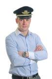 Pilote de ligne aérienne photo libre de droits