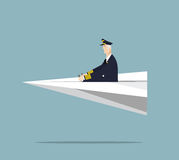 Pilote de ligne aérienne Image stock