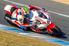 Pilote de Nicky Hayden des Superbikes SBK Images stock