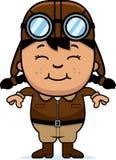 Pilote de sourire de bande dessinée illustration de vecteur