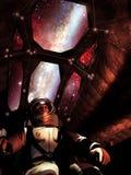 Pilote de vaisseau spatial Image libre de droits