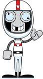 Pilote de voiture de course idiot Robot de bande dessinée illustration de vecteur