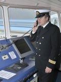 Pilote du bateau d'océan photos libres de droits