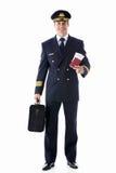 Piloten med jobbanvisningen Arkivfoton