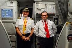 Piloten von Czech Airlines lizenzfreies stockfoto