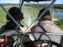 Piloten am Zeppelin Stockbilder