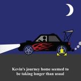 Piloter d'automobiliste illustration libre de droits