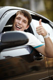 Piloter heureux Image stock