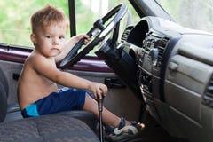 Piloter l'enfant Photographie stock