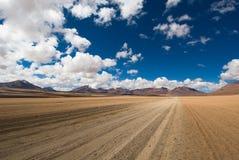 Piloter la route de désert Images stock