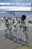 Piloter på den internationella rymdsalongen för MAKS Fotografering för Bildbyråer