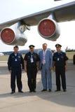 Piloter på den internationella rymdsalongen för MAKS Arkivfoton