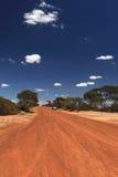 Piloter par le désert Image libre de droits