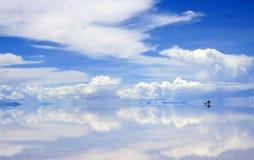 Piloter sur les saltflats humides Photo libre de droits