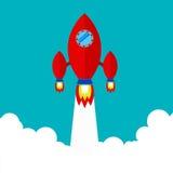Piloter un vaisseau spatial dans l'espace extra-atmosphérique Image stock