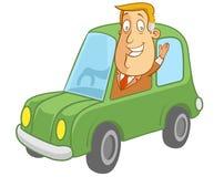 Piloter une vue de Car illustration stock