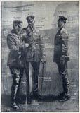 Pilotes britanniques pendant la première guerre mondiale image stock