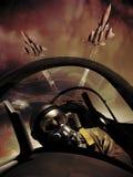 Pilotes d'avion de chasse illustration stock