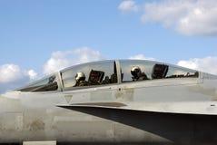 Pilotes d'avion de chasse Photographie stock