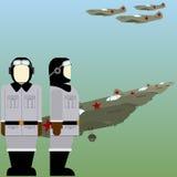 Pilotes soviétiques de la deuxième guerre mondiale Photo stock