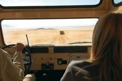 Pilotez dans le désert Images libres de droits