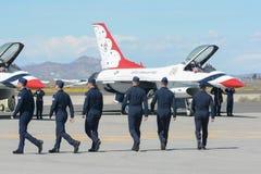 Piloti dei Thunderbirds dell'aeronautica di Stati Uniti Fotografia Stock Libera da Diritti