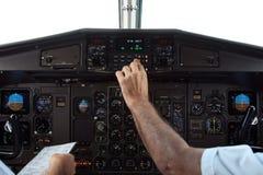 Piloti durante il volo Fotografia Stock Libera da Diritti