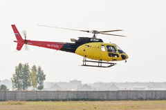 Piloting of Aerospatiale AS-350B3e Ecureuil Stock Images