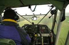Piloting Small Plane Stock Images