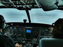 Pilotkontrast stockbild
