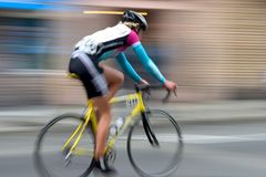 Piloto #4 da bicicleta Fotografia de Stock Royalty Free