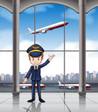 Piloto stock de ilustración